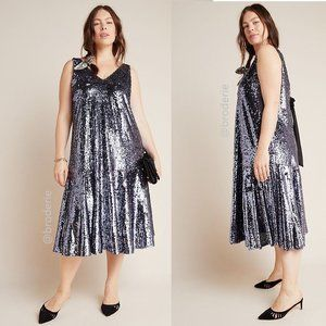 NEW Anthropologie Sybil Sequined Dress